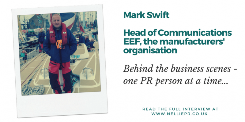 Mark Swift, EEF, PR comms